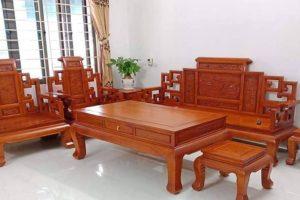 bàn ghế sa lông gỗ hương